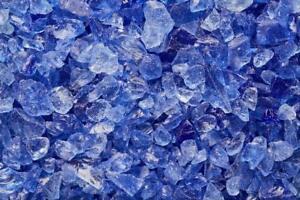 "Blue Multi-Purpose Premium Decor Aquarium, Fire Glass Rock 1/4""-1/2"" Crushed"