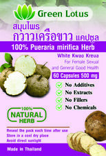 Pueraria mirifica 100% - 180 capsules 500 mg - 100% Natural - No Additives