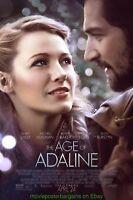 AGE OF ADELINE MOVIE POSTER Original DS  27x40 BLAKE LIVELY MICHIEL HUISMAN 2015