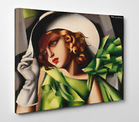 Tamara de Lempicka Donna in Verde Stampa su Tela Vernice pennello Poster Tavola