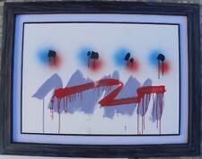Ennio FINZI (Venezia 1931) Tecnica Mista su cartoncino/su tela 70x100 anno 1984