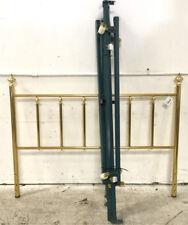 (2)pc. Bed Frame W/ Brass Headboard Lot 3398
