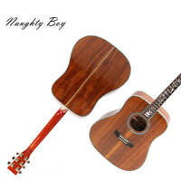 100% Handmade Acoustic Guitar Solid Koa Top Flower Abalone Inlay Fast Shipping