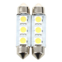 2x 3 SMD LED 39MM 239 C5W XENON WHITE INTERIOR LIGHT FESTOON NUMBER PLATE BUL FP