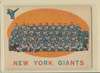 1959 Topps #133 New York Giants Team Vintage Football Card
