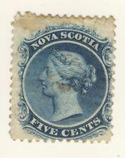 Nova Scotia Stamp Scott # 10 5-Cents Victoria Used