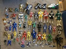 Large Mighty Morphin Power Rangers Figure Lot Cycles Accessories & More