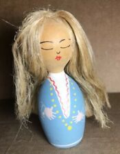 Vintage Hand Painted Wooden Swedish Doll