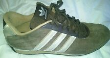 Team Adidas Goodyear Trefoil Suede Shoes Mens Size 11.5 US Brown with Tan