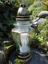 Grablaterne Grableuchte Grabkerze Grablampe inkl. Kerze Paproc