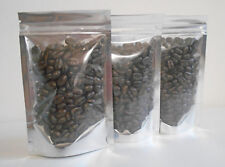 25 Silver/Clear 3.5x4.5x1.25 Standing Foil Pouch Mylar Ziplock Bags Smell Proof