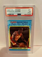 1988 Fleer Sticker Dominique Wilkins Atlanta Hawks Basketball Card PSA NM 7 #11
