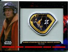 Star Wars Galactic Files Embroided Patch Relic Card PR-7 Ric Olie