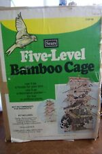 Vintage Sears 5 Level Bamboo Bird Cage 24�