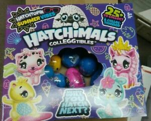 24 x  Hatchimals Colleggtibles Hatchtopia Summer Vibes Blind Eggs Sealed 24 pack