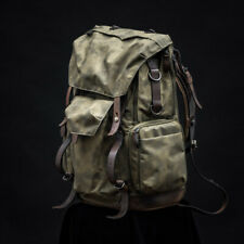WOTANCRAFT COMMANDER VINTAGE GREY and BROWN CANVASS BACKPACK