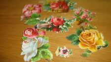 6  x Vintage Scraps  Roses and Flowers