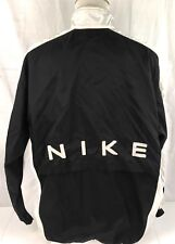 Nike White Windbreaker Vtg Vented Full Zip Black Spellout Youth XL 16-18