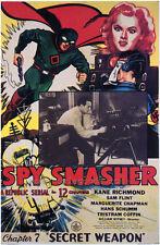 SPY SMASHER Movie POSTER 27x40 D Kane Richmond Marguerite Chapman Sam Flint Hans