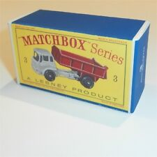 Matchbox Lesney  3 b Bedford Tipper Truck empty Repro D style Box