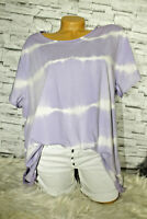 Italy T-Shirt Vintage Gr. 36 38 40 42 Shirt Oversized Long Puder lila blogger
