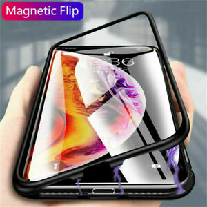 360 Protective Magnetic Glass Phone Cover for iPhone 6 7 8 Plus X 11 Pro Max