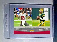Aaron Rodgers / Tom Brady 2020 Panini NFL Playoffs #208 Football Card Presale