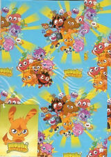 Moshi Monsters Gift Wrap Wrapping Paper Sheet roll 2 Sheet 2 Tag Pack 2 Cards