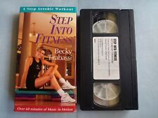 BECKY TIRABASSI Step Aerobic Workout - Step Into Fitness (VHS) GC