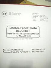 B & D Instruments Digital Flight Data Recorder 91003 Install Manual
