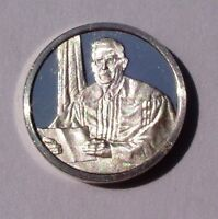 Franklin Mint Sterling Silver Mini-Ingot: 1954 Supreme Court Desegregate Schools