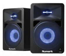 2x Numark N-Wave 580L Monitor DJ Speakers w/Built-in Multi-Colour LED Light PAIR
