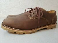 LL Bean East Point Brown Leather Lace up Oxfords Shoes Mens Size 14 M