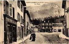 CPA  Saint-Laurent-du Pont (Isére) -La Place  (241634)