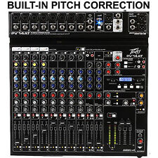 PEAVEY PV14AT Built-In Antares Live Pitch Correction USB FX Desktop Audio Mixer
