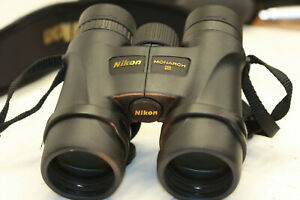 NIKON  MONARCH  5...10 x 42...BINOCULARS     sweet  view out ...bright & clear