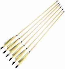 12PCS 31inch Wooden Archery Handmade Arrows W Yellow Turkey Feather