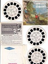 View Master 1958 HEIDI by Johanna Spyri 3 Reels B4251 B4252 B4253 with Booklet