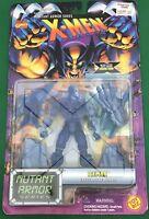 "Marvel X-Men Mutant Armor ICEMAN 5"" Action Figure ToyBiz 1996"