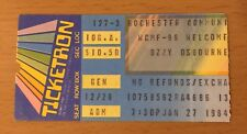 1984 OZZY MOTLEY CRUE SHOUT AT THE DEVIL TOUR ROCHESTER NY CONCERT TICKET STUB B