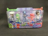 PJ MASKS COLLECTABLE 5 FIGURE PACK - CATBOY GEKKO OWLETTE NEW