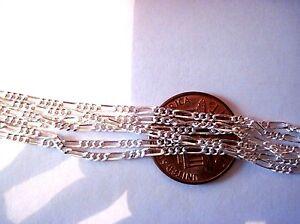 Small Figaro Sterling Silver Chain  .925 Pure Silver