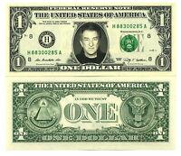 EDDY MITCHELL - VRAI BILLET de 1 DOLLAR US ! Collection Rock Chanson Française