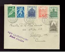 1948 Netherlands Cover to Canada # B189-B193