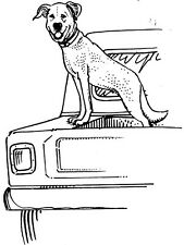 Unmounted Rubber Stamps, Dog Stamps, Dogs, Canine, Trucks, Dog in Pick Up Truck