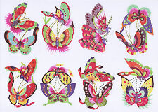 Chinese Paper Cuts 10 Colorful Pair Butterfly Set 10 small pieces 1 packet Lot