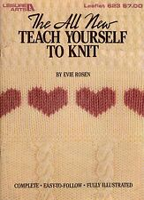 Leisure Arts 623 Teach Yourself to Knit Beginner Patterns Scarf Slippers 1992