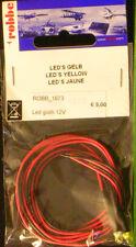 ROBBE 1673 set 2 led gialli diametro 4 mm. 12 volt