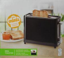 Mini Reise Camping Toaster 1-Scheiben Toastschlitz Brötchenaufsatz schwarz