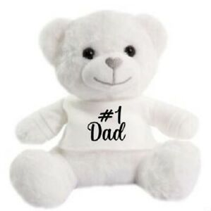 Number 1 Dad Fathers day super soft cuddly Christmas gift Birthday Teddy Bear